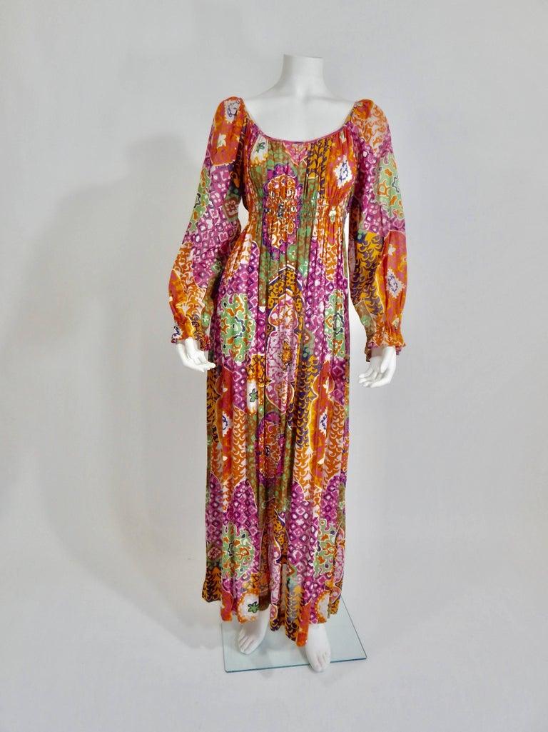 Women's Bohemian Maxi Dress, 1970s  For Sale