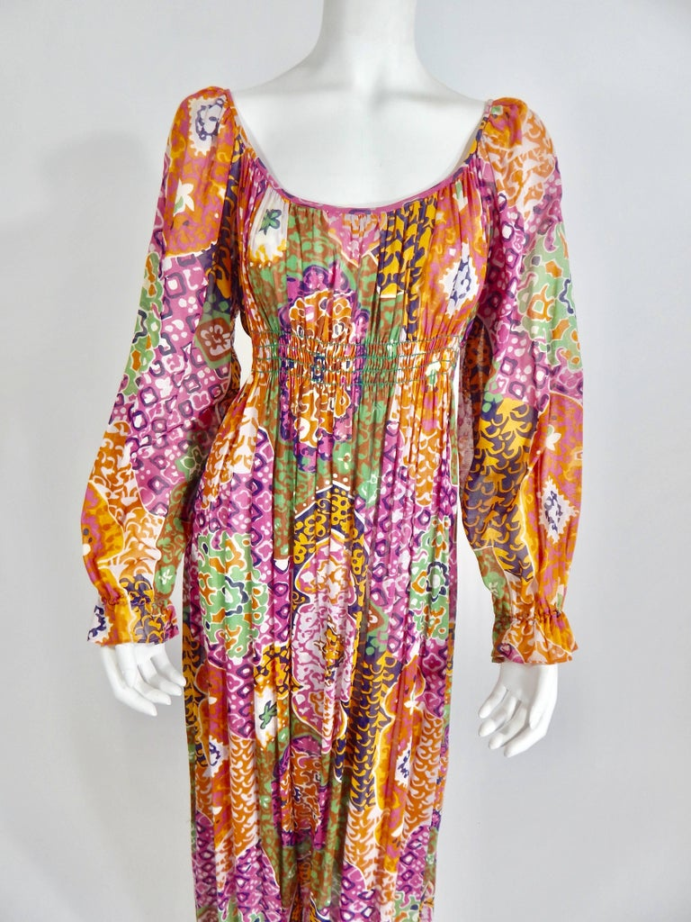 1970s Bohemian Maxi Dress 6