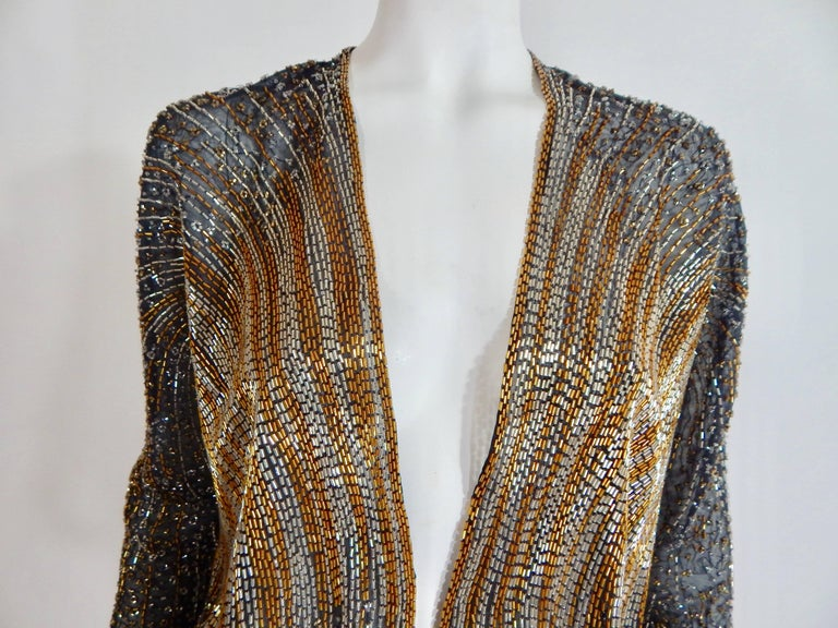 Black Halston Beaded Cover For Sale