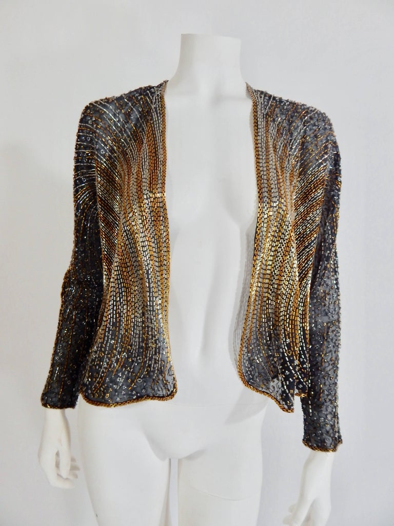 Halston Beaded Cover For Sale 2