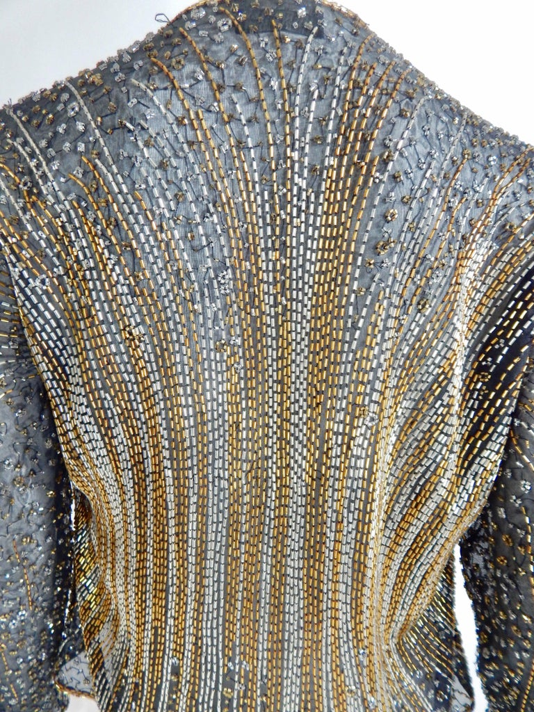 Women's Halston Beaded Cover For Sale