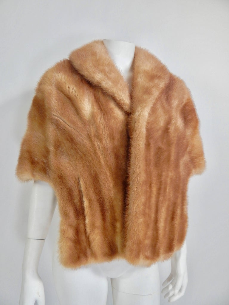 Evans Paris Mink Stole, 1960s  In Excellent Condition For Sale In Long Island City, NY
