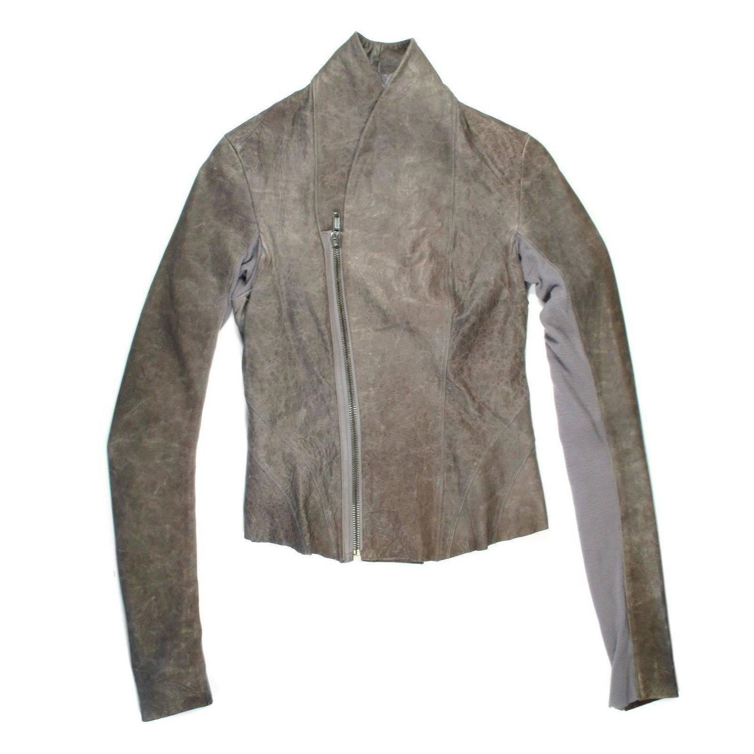rick owens leather jacket for sale at 1stdibs. Black Bedroom Furniture Sets. Home Design Ideas