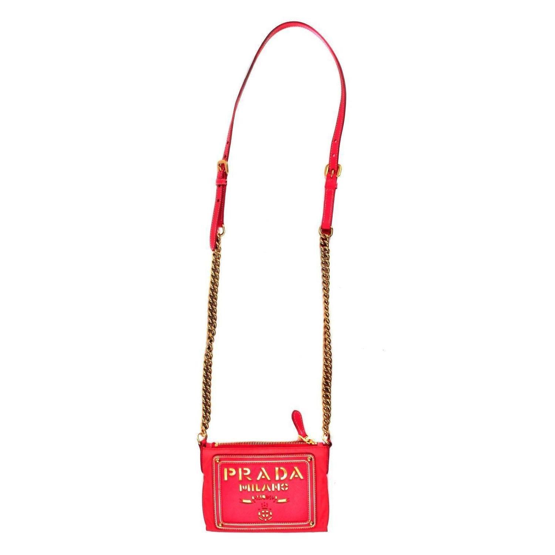 prada shoulder bag nylon - Prada - Crossbody Tessuto and Saffiano Bag For Sale at 1stdibs