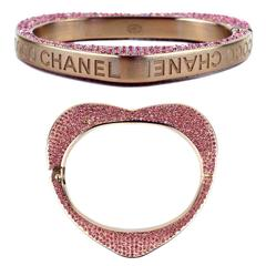 Chanel - Crystal Heart Bracelet