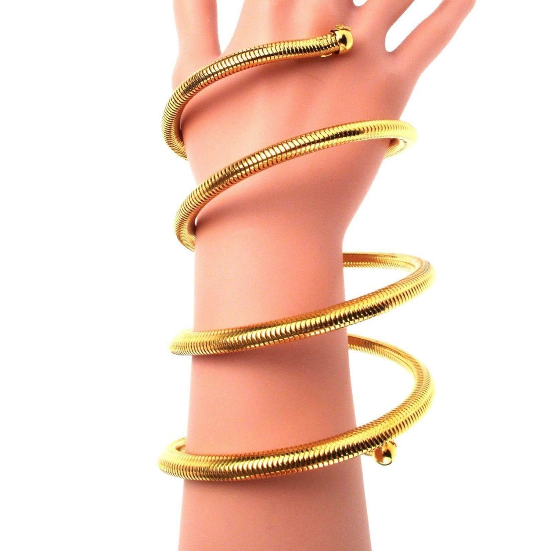 chanel iconic arm cuff bracelet coil 97p vintage