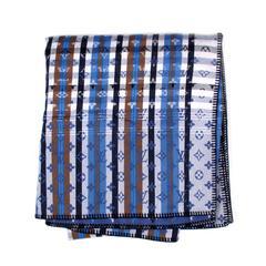 Louis Vuitton XXL Blanket - Monogram Blue & White Brown Wool Logo