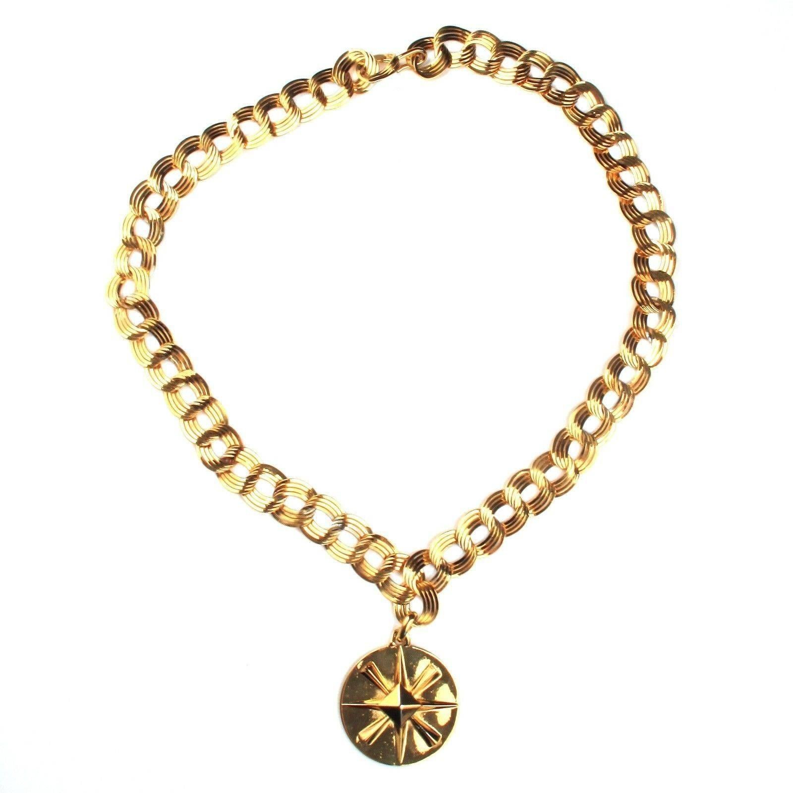 style jewelry necklace gold product viducci watches overstock today chain vintage shipping medallion diamond white free
