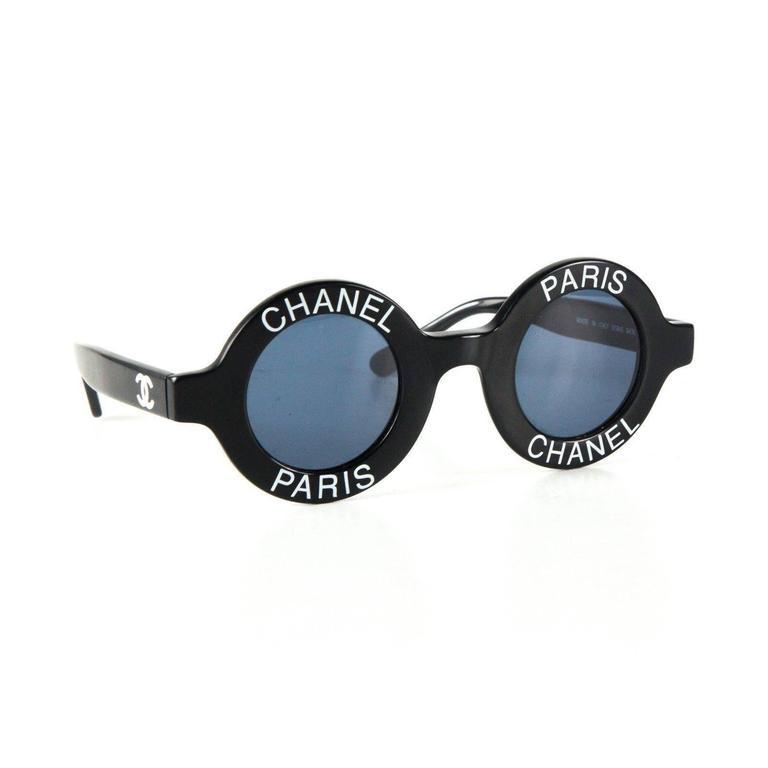 Chanel Most Wanted Sunglasses Round Paris Logo Vintage ...