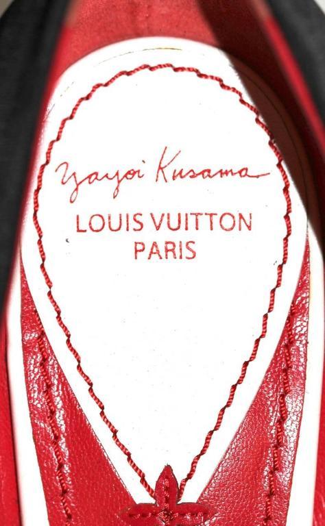 LOUIS VUITTON x YAYOI KUSAMA Limited Edition Sz EU 38.5 Pristine Pumps 4