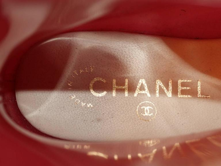 Chanel Rain Boots - Glossy Pink Rubber - FR 39 4