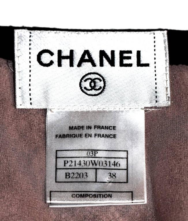 Women's Chanel Pencil Skirt  - Blush Pink and Black Lace - FR 38 For Sale