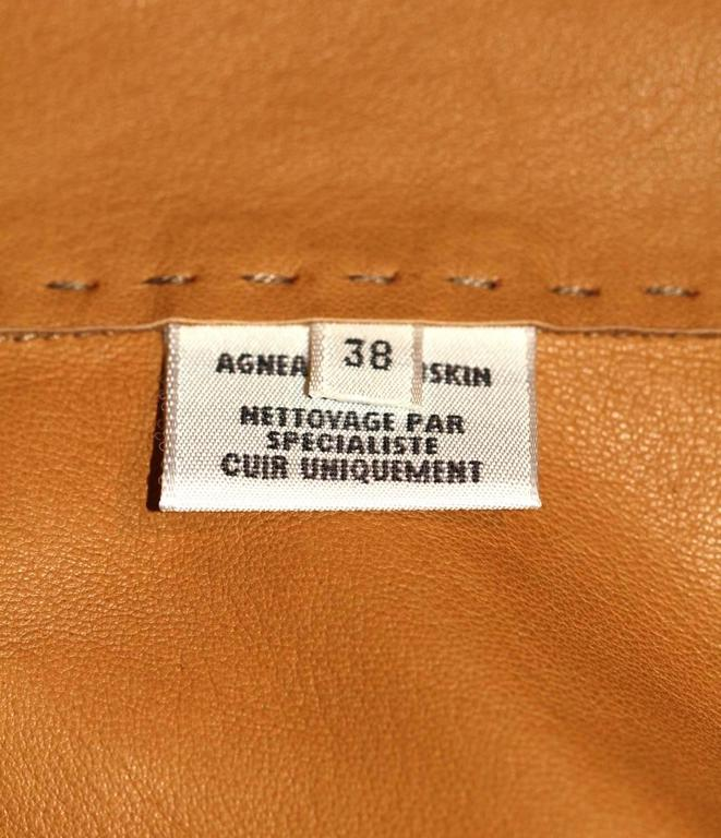 HERMES Camel Suede Wrap Design Vest  In Excellent Condition For Sale In Geneva, CH