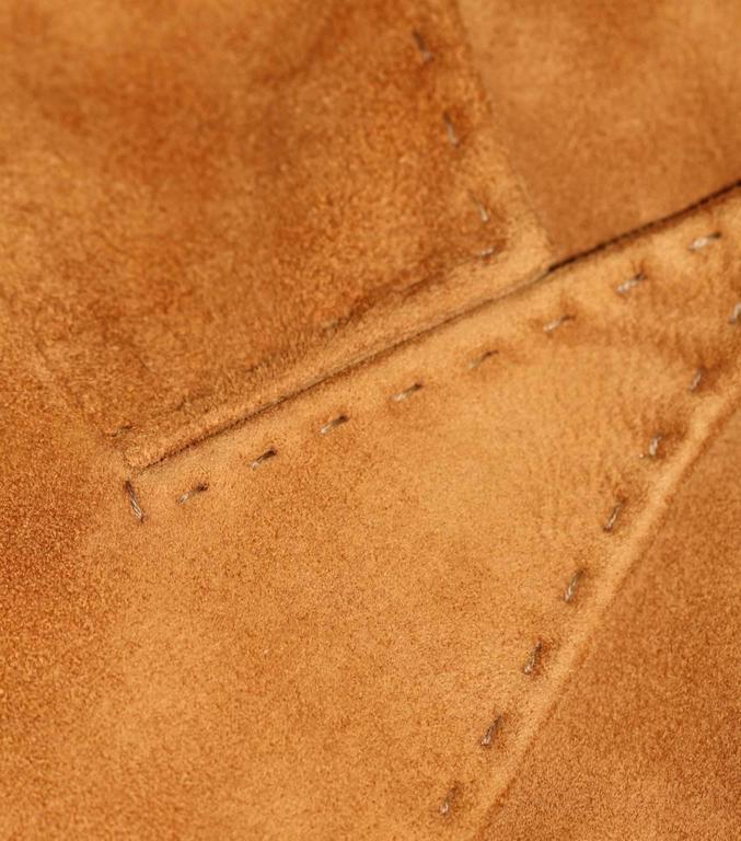 Women's HERMES Camel Suede Wrap Design Vest  For Sale