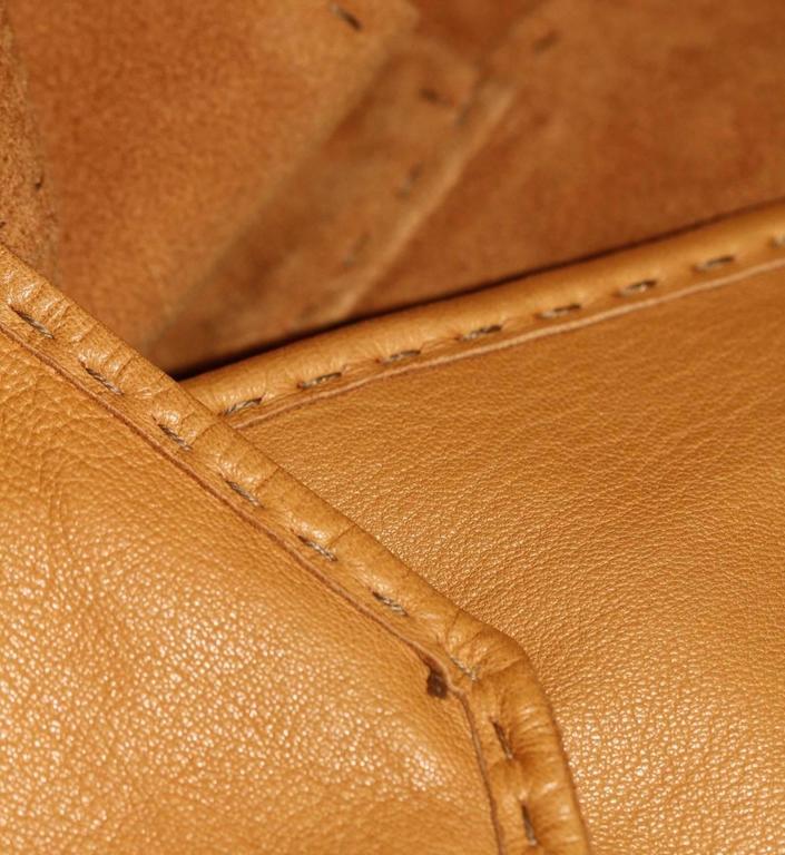 HERMES Camel Suede Wrap Design Vest  For Sale 1