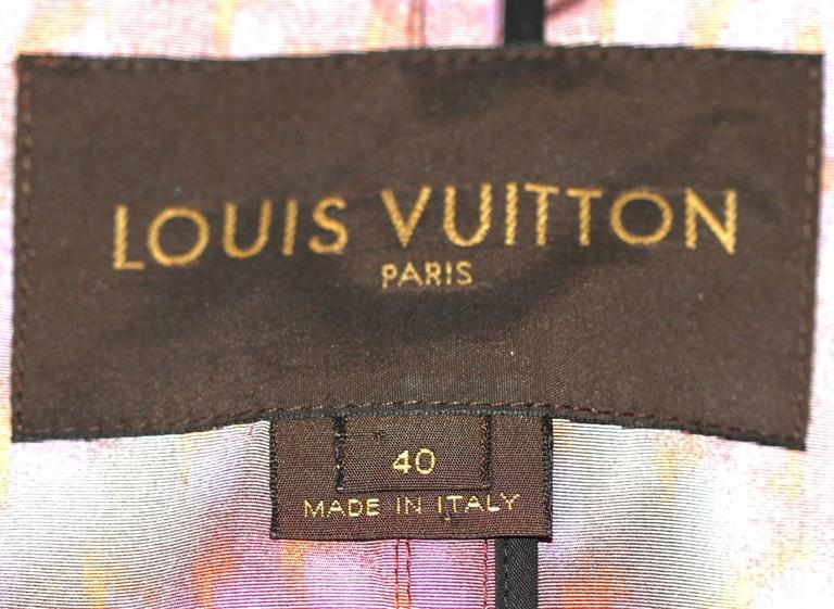 Louis Vuitton Purple Leopard Print Trench Colorful Stephen Sprouse  For Sale 2