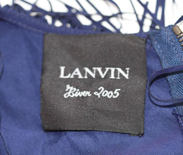 Lanvin Dark Blue Fringe Mini Dress - Charleston Style - FR 38 7