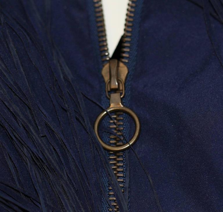Lanvin Dark Blue Fringe Mini Dress - Charleston Style - FR 38 6