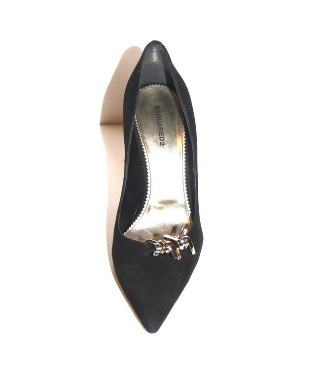 """DSQUARED2 """"Babe Wire""""  Collection Black Suede Pumps  For Sale 1"""