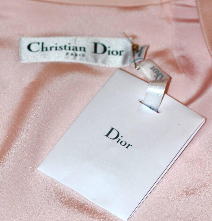 CHRISTIAN DIOR Runway Collection Pale Pink and Black Bustier and Dress  For Sale 3