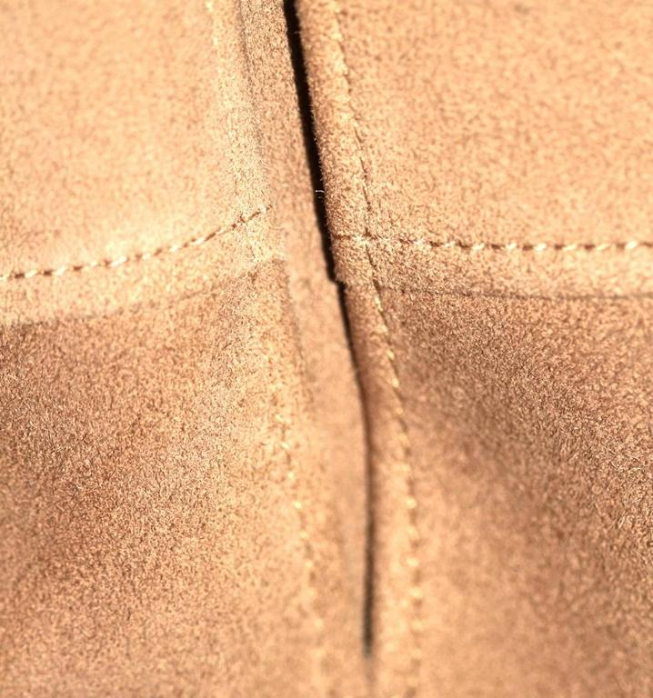 HERMES Stunning Beige Suede Anckle Length Coat  For Sale 1