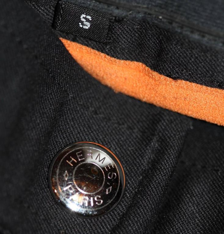 Hermes Black Riding Horse Pants - Stretch Cotton and Suede - Size S 4