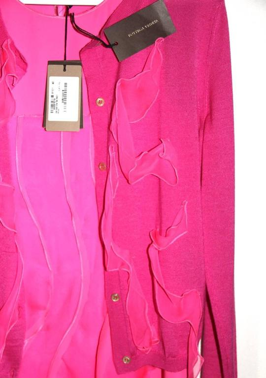 Bottega Veneta Hot Pink Sleeveless Dress - Hot Pink Silk - FR 40 FR  5