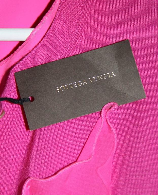 Bottega Veneta Hot Pink Sleeveless Dress - Hot Pink Silk - FR 40 FR  8