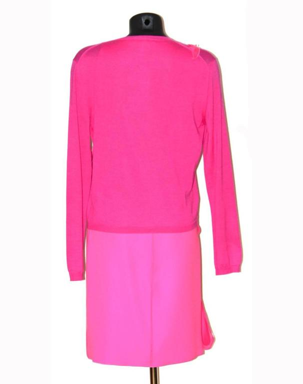 Bottega Veneta Hot Pink Sleeveless Dress - Hot Pink Silk - FR 40 FR  3