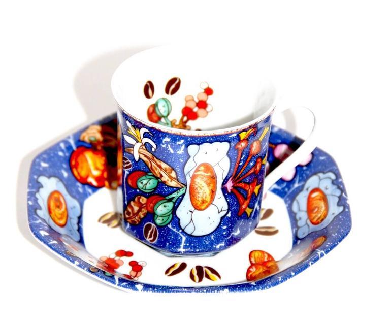 """Gray HERMES """"Marqueterie de Pierres d'Orient et d'Occident"""" Coffee and Tea Service For Sale"""
