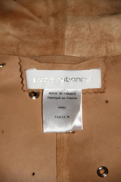 Paco Rabanne Suede Coat - Ankle Length Shawl Collar - Exceptional Item 7