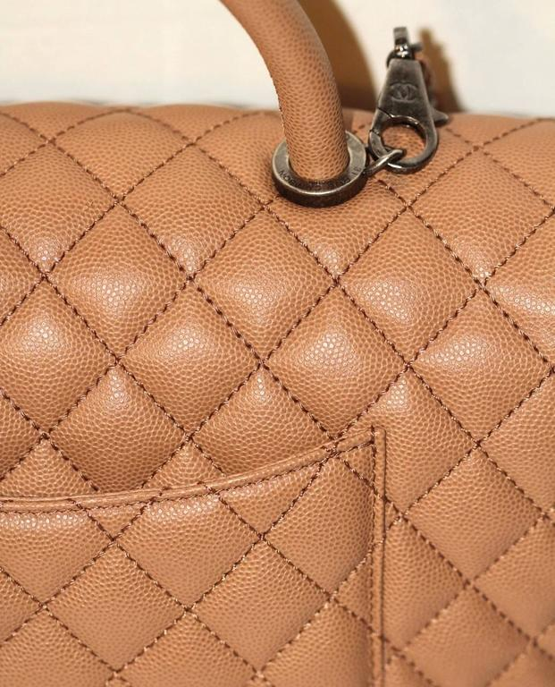 d24dee0b87a2 Chanel Coco Handle Flap Bag - Beige Caviar Leather - 2017 NEW NEVER ...