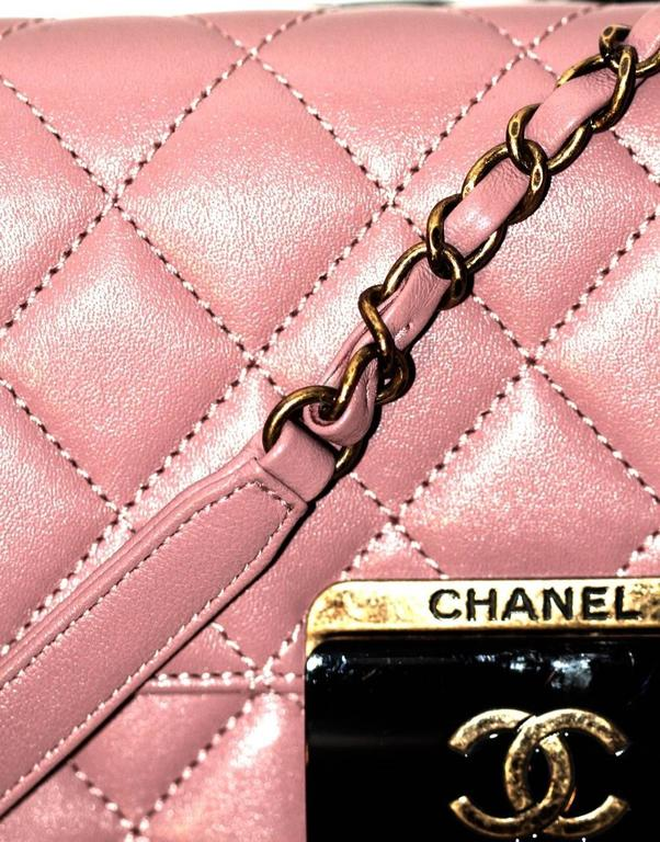 Chanel Beauty Lock Flap - Bag Old Pink Sheepskin Leather - 2016 NEVER WORN 8