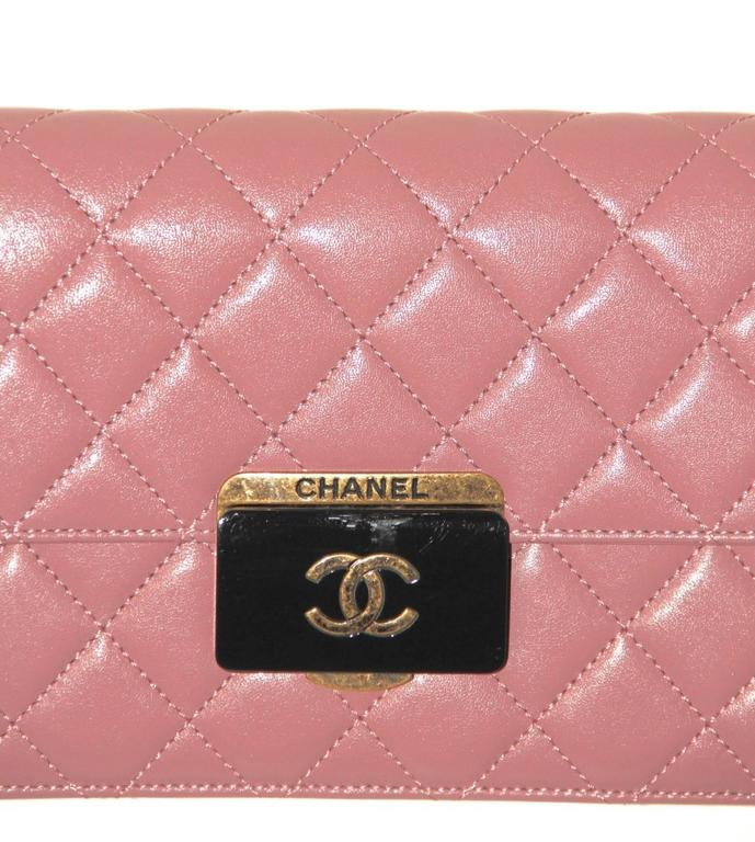 Chanel Beauty Lock Flap - Bag Old Pink Sheepskin Leather - 2016 NEVER WORN 6