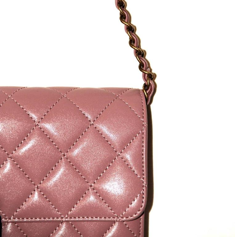 Chanel Beauty Lock Flap - Bag Old Pink Sheepskin Leather - 2016 NEVER WORN 7