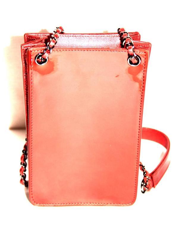 Chanel Runway Smartphone Case Bag Red Metallic Color - 2014 - NEVER WORN 3