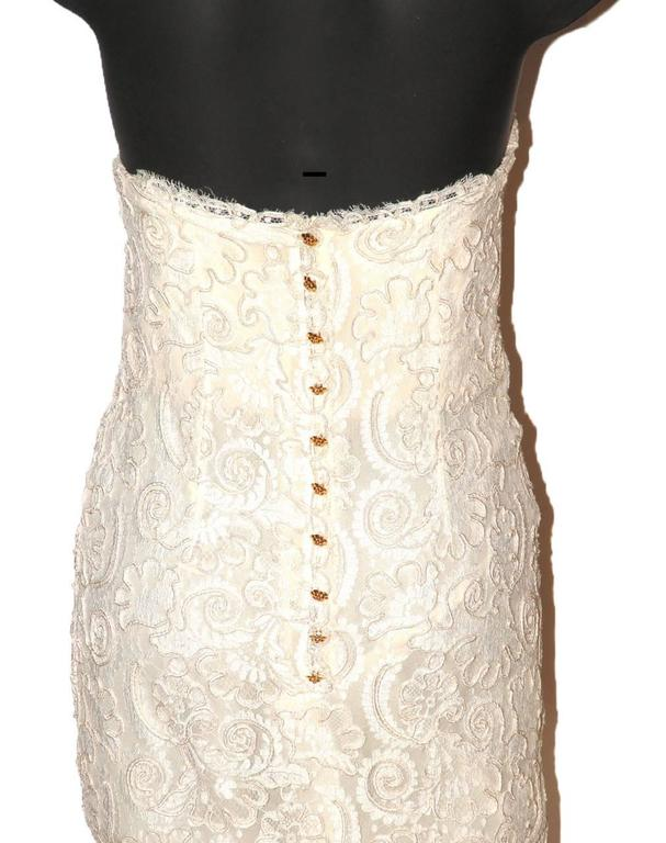 Chanel Strapless Dress - Ivory Lace - Excellent Condition 2