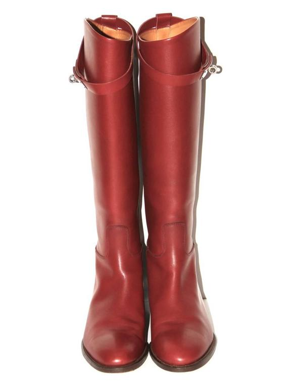 "Hermes Boots ""Jumping"" Rouge H  2"
