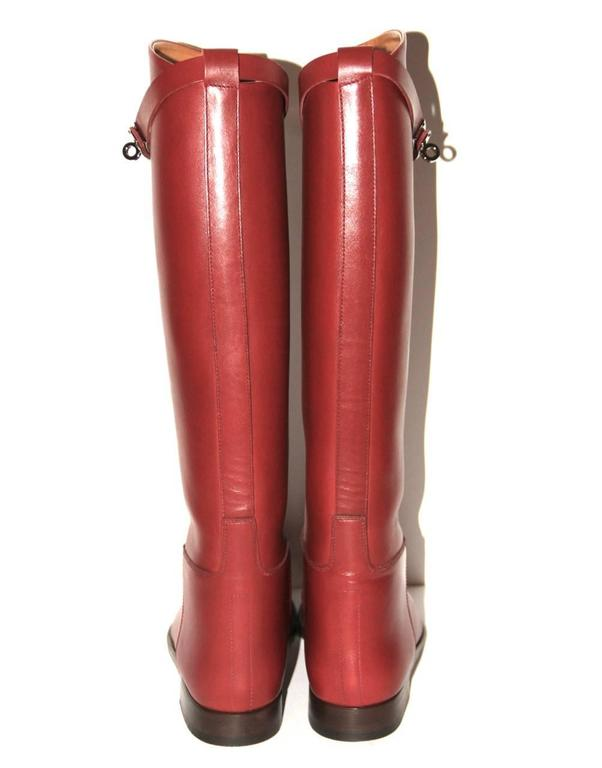 "Hermes Boots ""Jumping"" Rouge H  4"