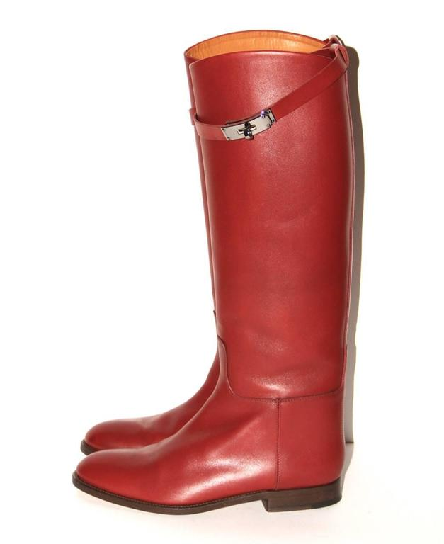 "Hermes Boots ""Jumping"" Rouge H  3"