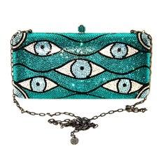 "SYLVIA TOLEDANO ""Look"" Collection Swarovski Crystal-embellished Box Clutch"