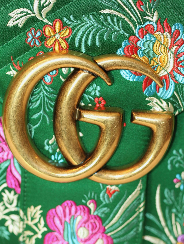 1bfbd499bb68 GUCCI GG Marmont Maxi Handbag Quilted Floral Jacquard For Sale 2
