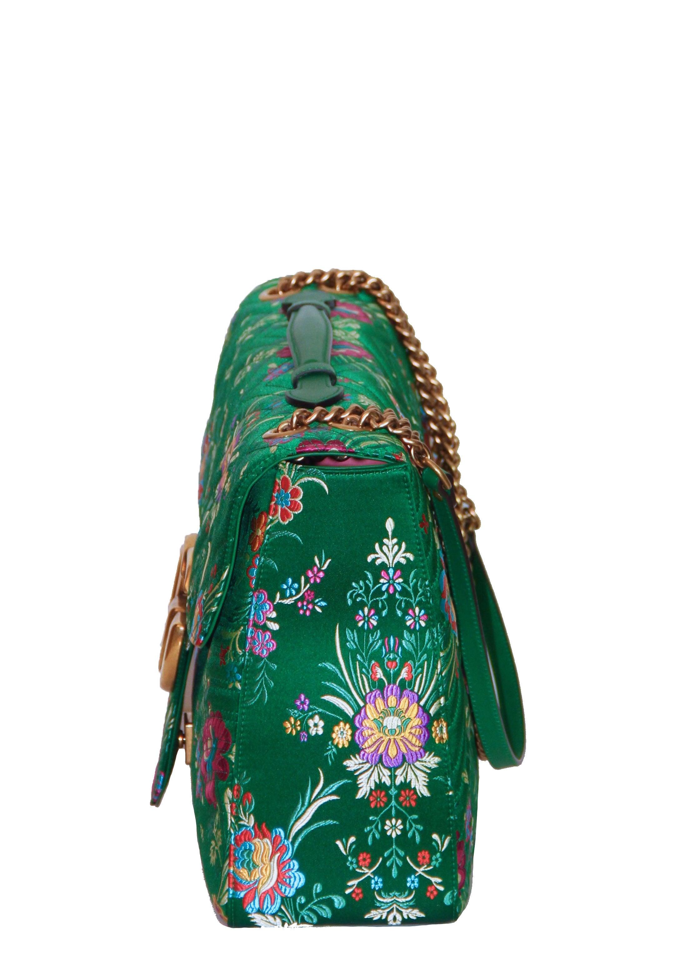 496ecc16b3d1 GUCCI GG Marmont Maxi Handbag Quilted Floral Jacquard at 1stdibs