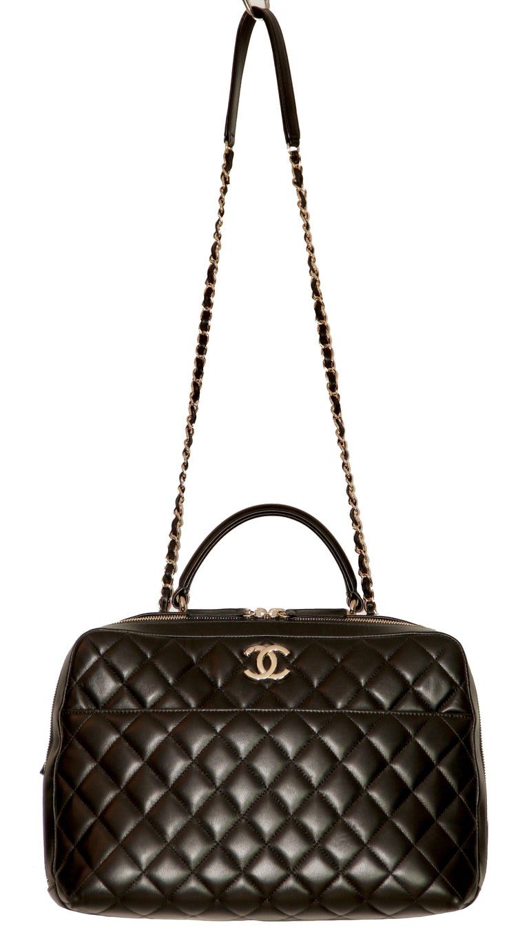 891ddbb5d03e70 CHANEL Trendy CC Bowling Bag For Sale 3