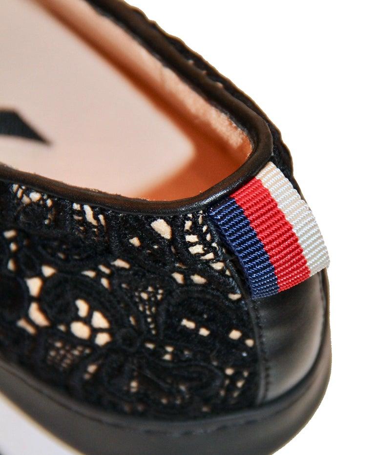 Gucci Black Lace Platform Sneaker For Sale 2
