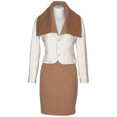 CHRISTIAN DIOR Elegant Bi-Color Reversible Suit