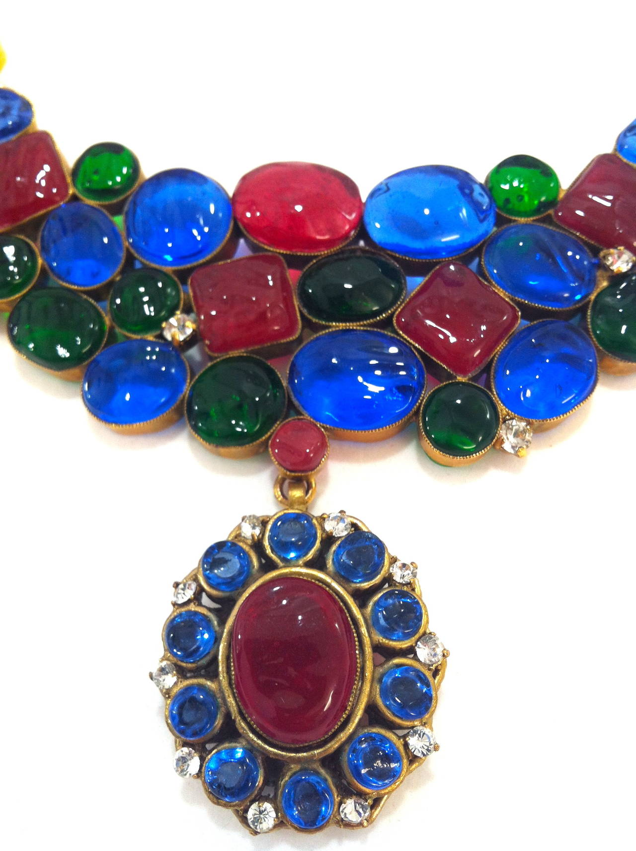 Rare 1970's Mademoiselle Chanel  Byzantine Necklace by Gripoix In Excellent Condition In New York, NY