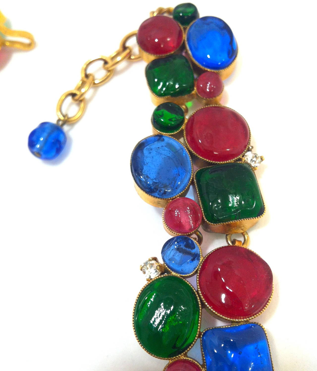Rare 1970's Mademoiselle Chanel  Byzantine Necklace by Gripoix 6