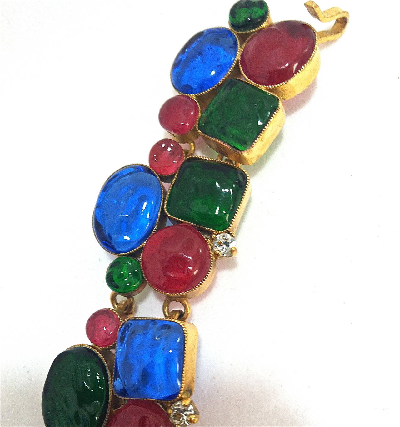 Rare 1970's Mademoiselle Chanel  Byzantine Necklace by Gripoix 5
