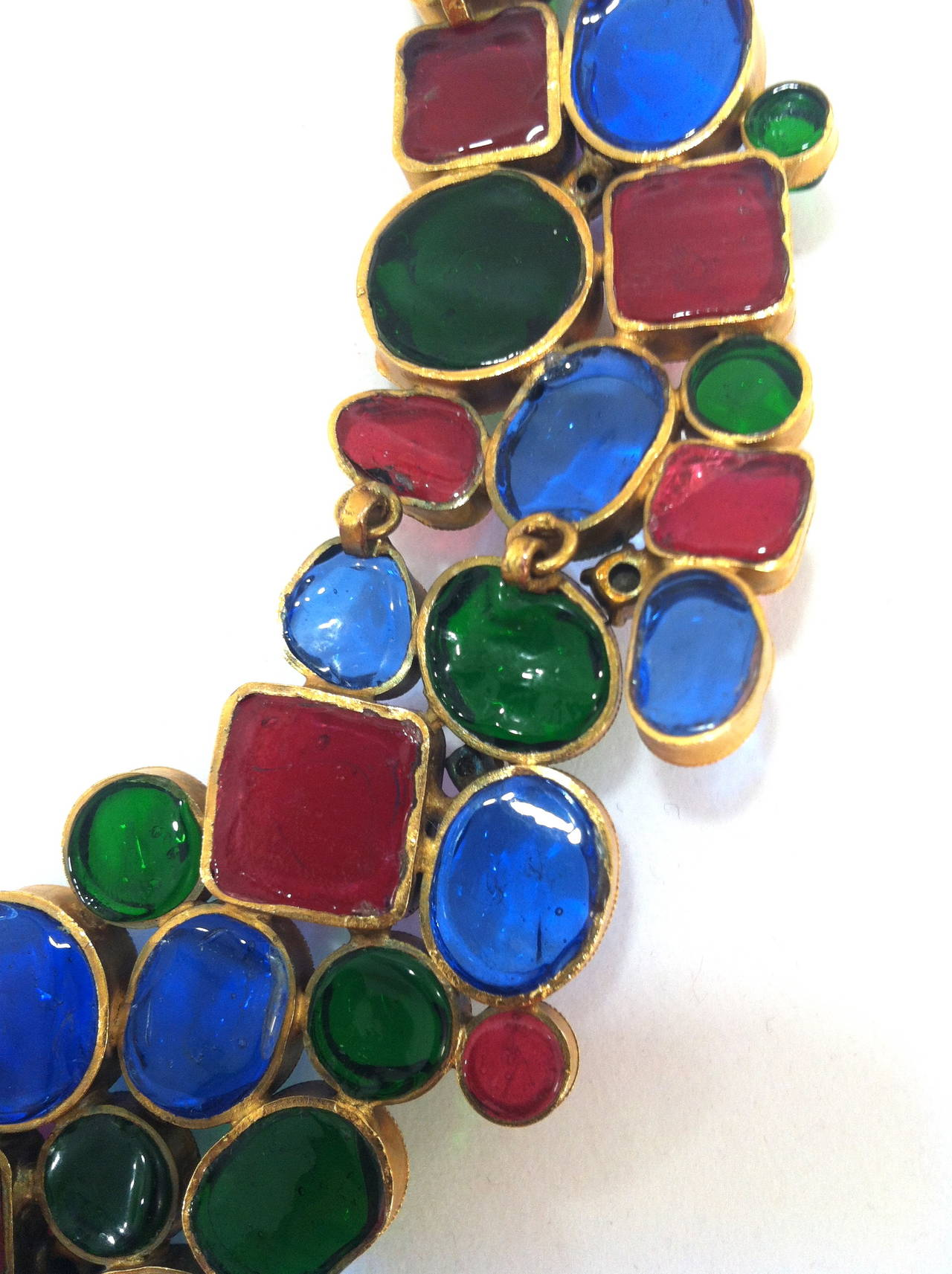 Rare 1970's Mademoiselle Chanel  Byzantine Necklace by Gripoix 3